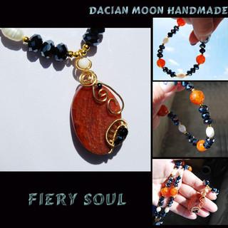"""""""Fiery Soul"""" necklace"""