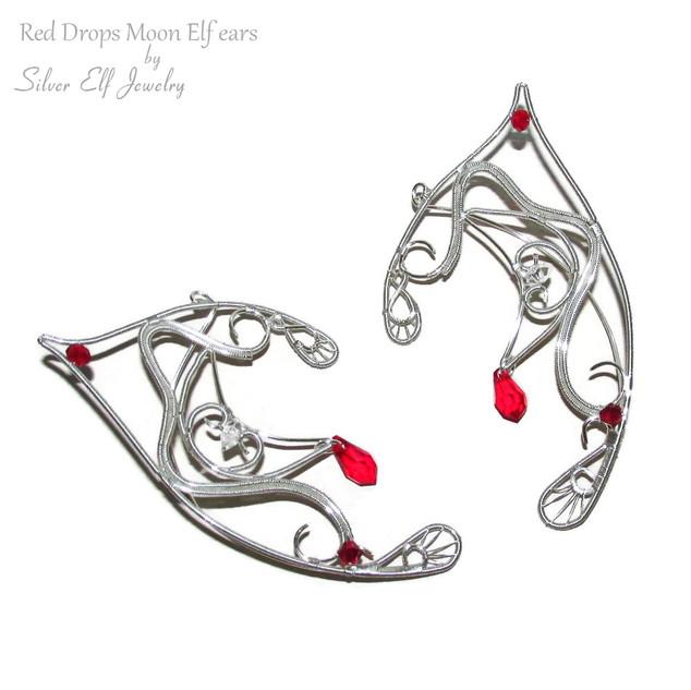 Red Drops - Moon Elf ears