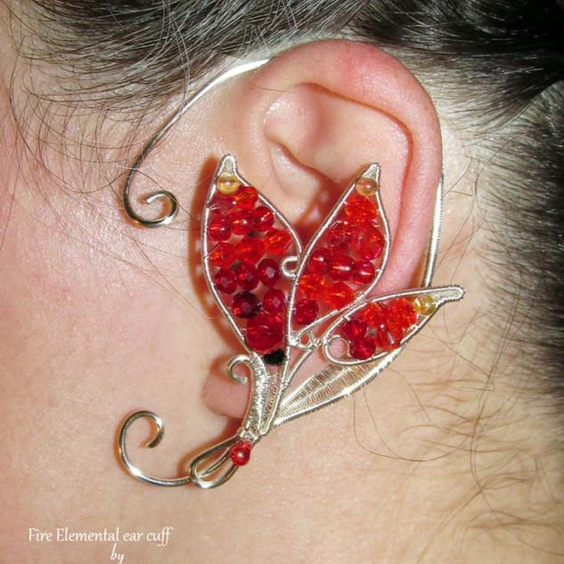 Fire Elemental Ear Cuff