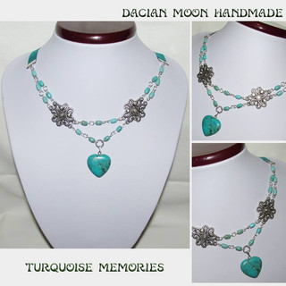 """Turquoise memories"" necklace"