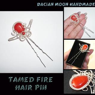 """Tamed Fire"" hair pin"