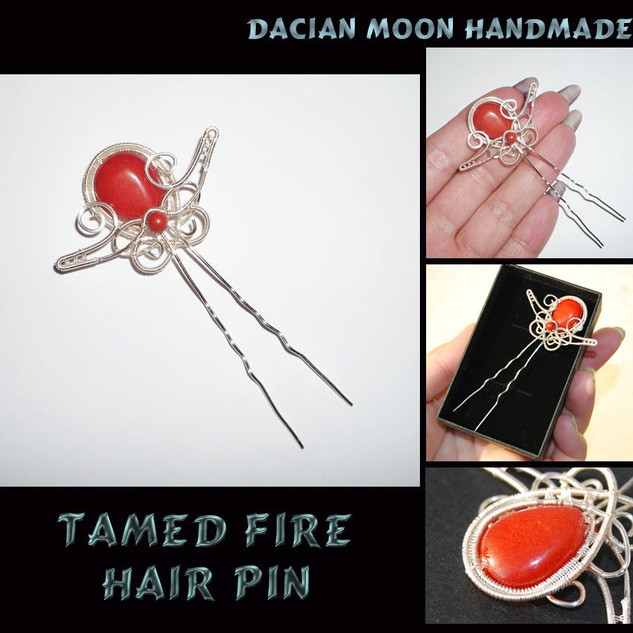 """Tamed Fire"" hair pin"