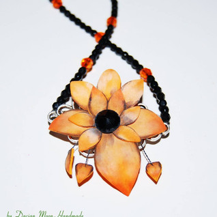 """Dark Garden: Orange"" necklace"