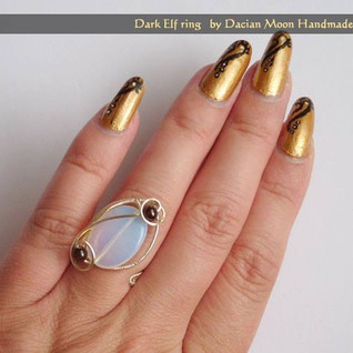 """Dark Elf"" ring"