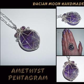 """Amethyst Pentagram"" pendant"