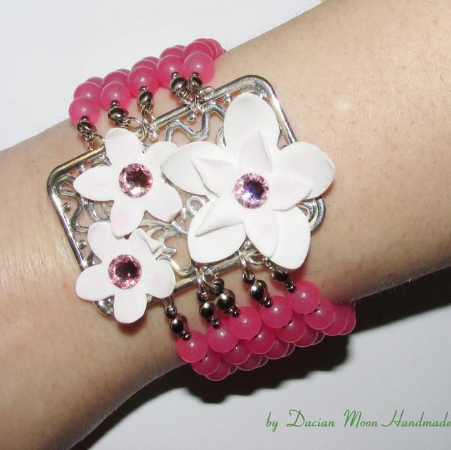 """La vie en rose"" bracelet"