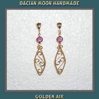 """Golden air"" earrings"