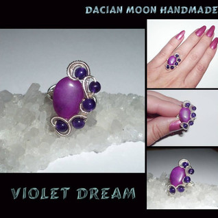 """Violet Dream"" ring"