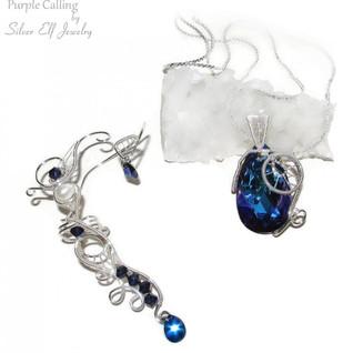 Purple Calling Jewelry Set