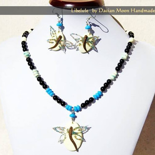 """Dragonfly"" jewelry set"