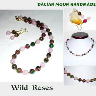 """""""Wild Roses"""" jewelry set"""