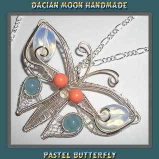 """Pastel Butterfly"" pendant"