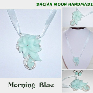 """Morning Blue"" pendant"