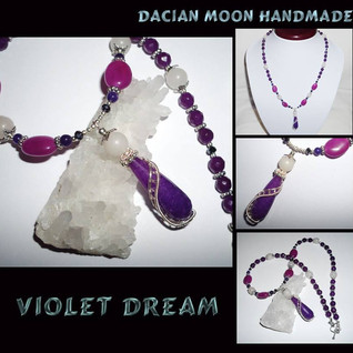 """Violet Dream"" jewelry set"