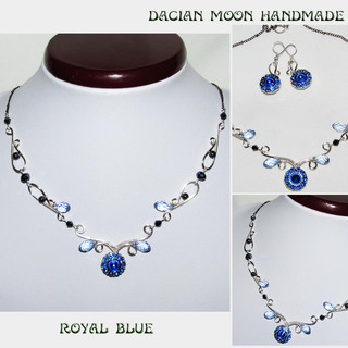 """Royal Blue"" jewelry set"