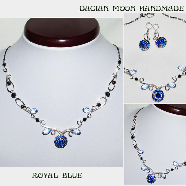 """Royal Blue"" jewelry set"