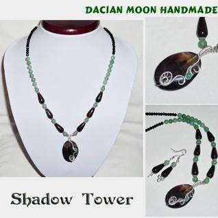 """Shadow Tower"" jewelry set"