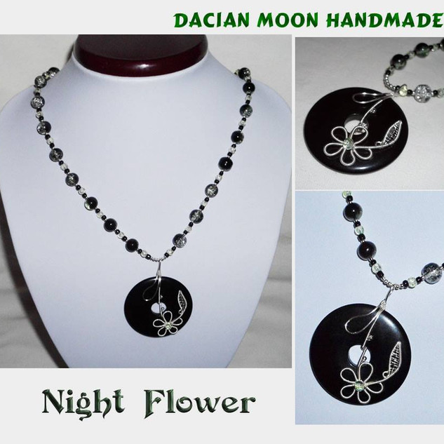 """Night Flower"" necklace"