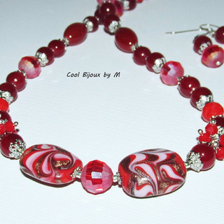 Color Fantasy: Red jewelry set