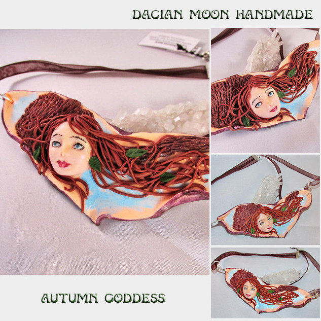 """Autumn Goddess"" necklace"
