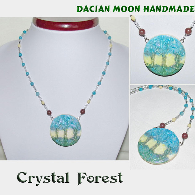 """""""Crystal Forest"""" necklace"""
