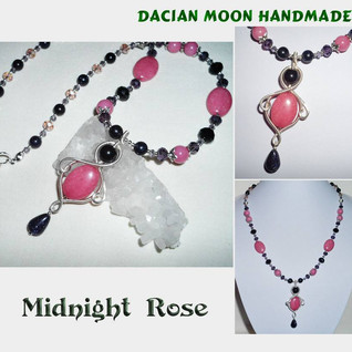 """Midnight Rose"" jewelry set"