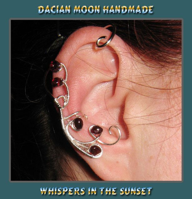 """Whispers in the Sunset"" ear cuff"