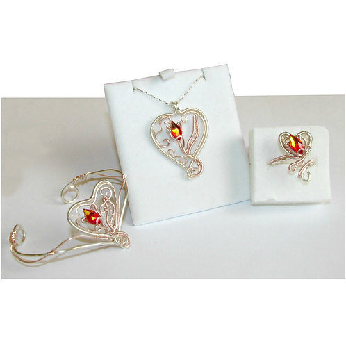 Elven Valentines jewelry set