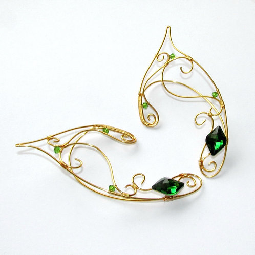 Green and Gold elf ears