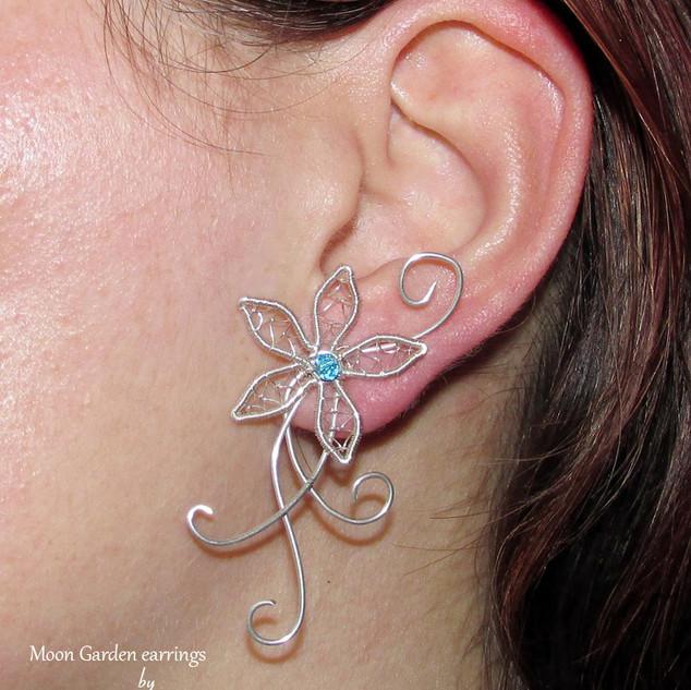 Moon Garden ear studs