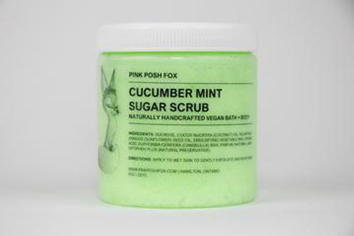 Pink Posh Fox Cucumber Mint Sugar Scrub