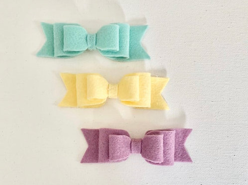 Pretty Pastel Bow Set