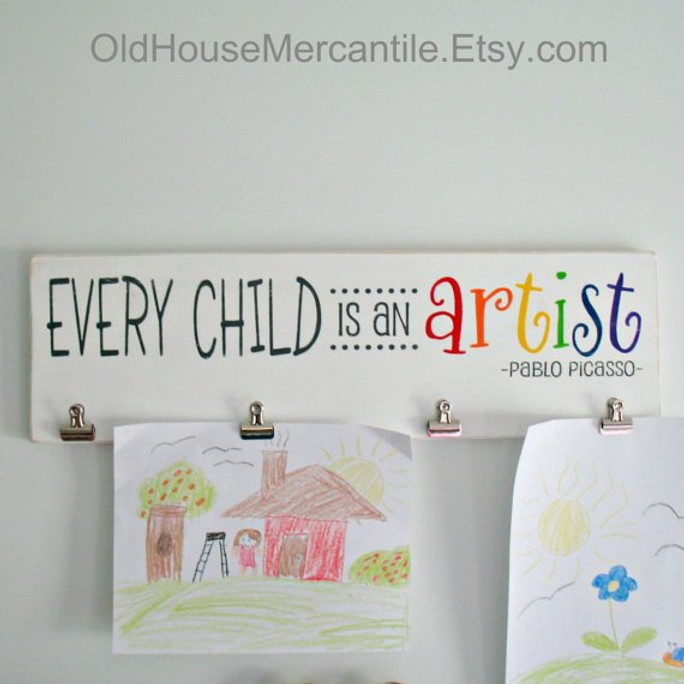 Every Child is an Artist DIY Wood Sign