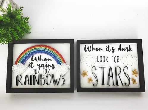 Rainbows & Stars String Art Set