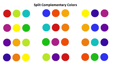 Split Complementary Color Scheme