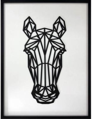 Figura Geométrica de madera enmarcada Horse