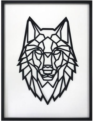 Figura Geométrica de madera enmarcada León