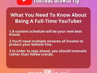 YouTube Growth Tip || What You Need To Know About Being A Full-Time YouTuber
