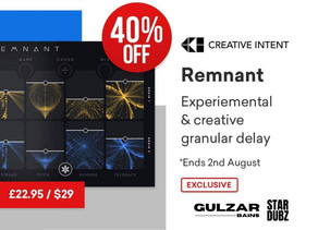 Deal | New Plugin | Remnant Delay by Creative Intent
