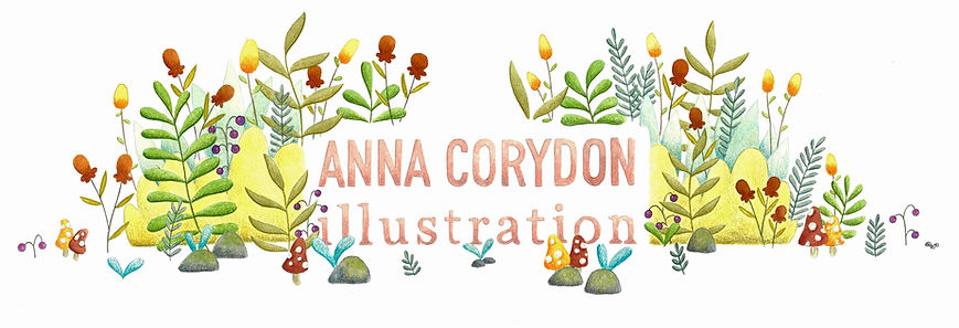 Nature, flowers, illustration, watercolor, color pencil, anna corydon header