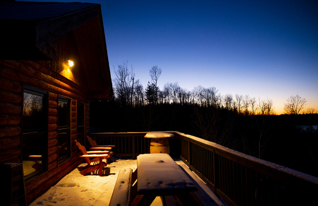 The Guest House Deck in the Winter