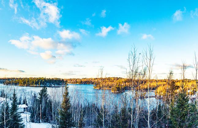 Jasper Lake in the Winter