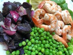 5shrimp and purple potatoes