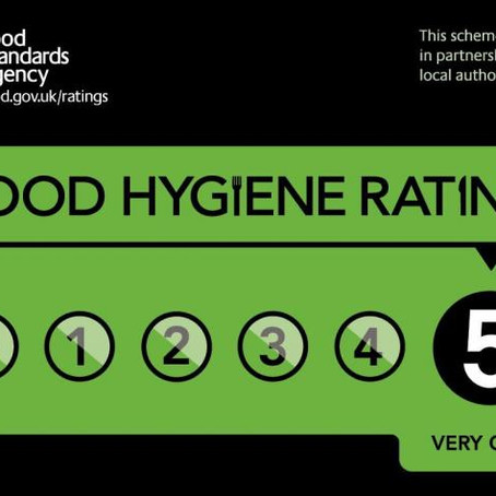 Our second level 5 rating for food hygiene in less than 3 months!