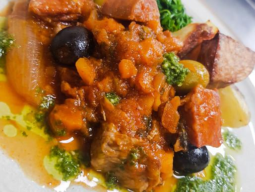 Chorizo and Bacon Stew