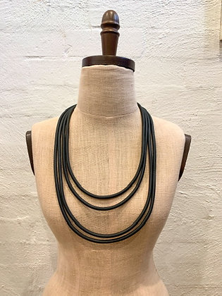 "We Too Are One ""Thali"" layered rubber neckpiece"