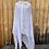 Thumbnail: Banana Blue White Linen Duster Jacket with Gold
