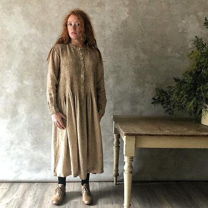 Manteau Noir Flora Linen Dress