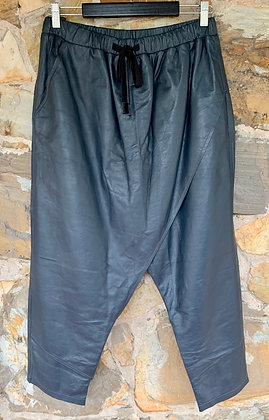 M A Dainty Navy leather pant