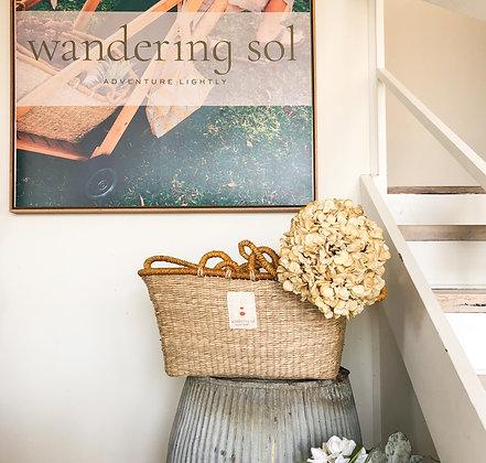 Wandering Sol Seagrass Basket